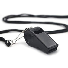 Plastic ABS Whistle with Lanyard