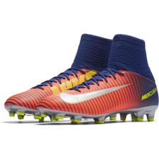 Nike Jr Mercurial Superfly V Firm Ground Boot - DEEP ROYAL BLUE/CHROME-TOTAL CRIMSON