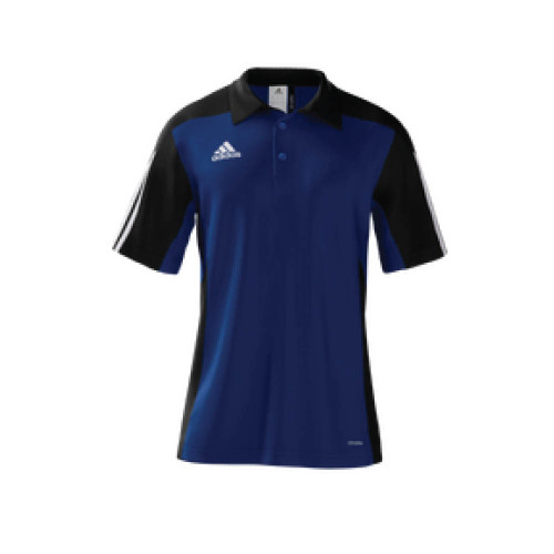 adidas mi Team 14 Polo - White/Cobalt/Black