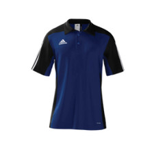 adidas mi Team 14 Polo - Black/White/Cobalt