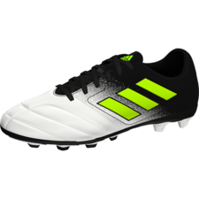 adidas ACE 17.4 Firm Ground Boots - FTWR WHITE/SOLAR YELLOW/CORE BLACK