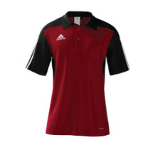 adidas mi Team 14 Polo - UnivRed/Black