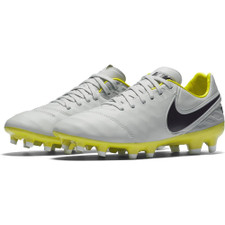 Nike Women's Tiempo Legacy II Firm Ground - PURE PLATINUM/PURPLE DYNASTY-ELECTROLIME