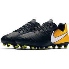 Nike Tiempo Rio IV Firm Ground Boot Jr - BLACK/WHITE-LASER ORANGE-VOLT