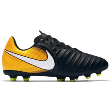 newest e1829 657d9 Nike Tiempo Rio IV Firm Ground Boot Jr - BLACK/WHITE-LASER ORANGE-VOLT
