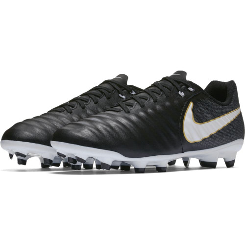 a5cbe7ac449ada Nike Tiempo Ligera IV Firm Ground Boot - BLACK WHITE-BLACK
