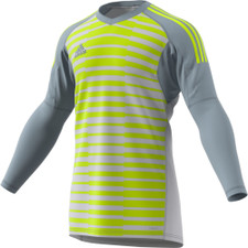 adidas AdiPro 18 Goal Keeper Jersey - Lt Grey/Solar Yellow