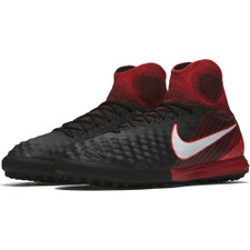 Nike MagistaX Proximo II Dynamic Fit Turf Football Boot - Black/White-University Red