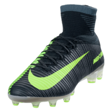 Nike Mercurial Superfly V CR7 Firm Ground Boot - Seaweed/Metallic Silver/Volt/Racing Green