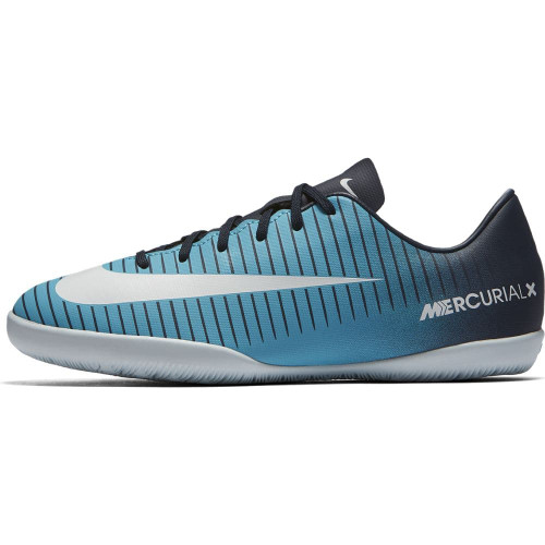 4fc6871712bb86 ... Nike MercurialX Vapor XI Indoor Boot Jr -OBSIDIAN WHITE-GAMMA BLUE-GAMMA  ...
