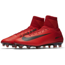 Nike Mercurial Veloce III Dynamic Fit Firm Ground Boot - UNIVERSITY RED/BLACK-BRIGHT CRIMSON