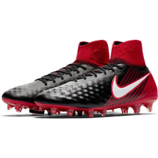Nike Magista Orden II Firm Ground Boot - BLACK/WHITE-UNIVERSITY RED
