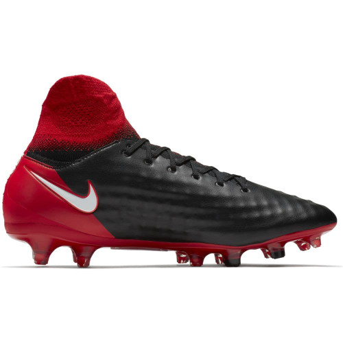 Nike Magista Orden II Firm Ground Boot - BLACK/WHITE-UNIVERSITY RED