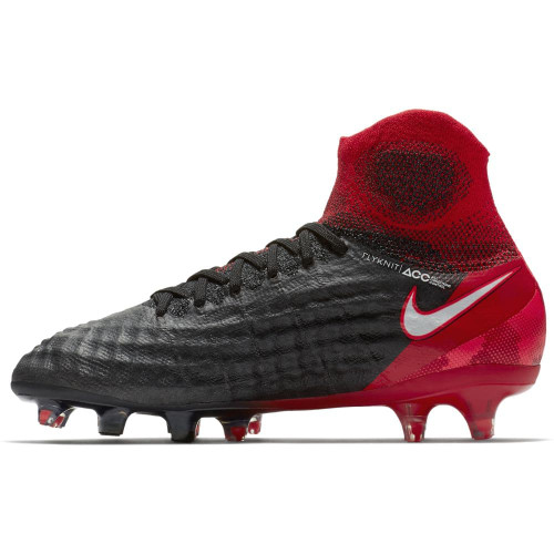 Nike Magista Obra II Firm Ground Jr - BLACK/WHITE-UNIVERSITY RED