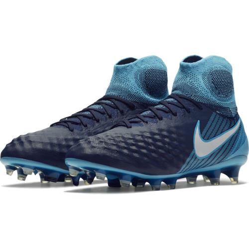 Nike Magista Obra II Firm Ground Boot - Obsidian/White-Gamma Glacier-Blue