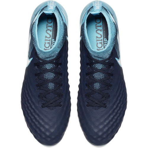 Nike Magista Obra II Firm Ground Boot - Obsidian/White-Gamma Glacier-Blue