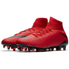 Nike Hypervenom Phatal III Dynamic Fit Firm Ground Boot - UNIVERSITY RED/BLACK-BRIGHT CRIMSON
