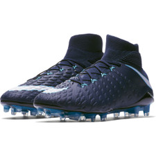 Nike Hypervenom Phantom III Dynamic Fit Firm Ground Boot - Obsidian/White-Gamma Glacier-Blue