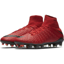Nike Hypervenom Phantom III Dynamic Fit Firm Ground Boot Jr - UNIVERSITY RED/BLACK-BRIGHT CRIMSON