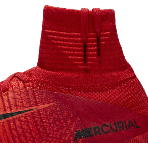Nike Mercurial Superfly V Dynamic Fit Firm Ground Boot Jr - UNIVERSITY RED/BLACK-BRIGHT CRIMSON