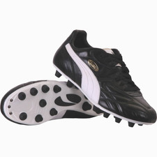 Puma King Top Di Firm Ground Boot - Black/White