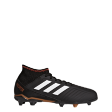 adidas Predator 18.3 Firm Ground Boots - CORE BLACK/FTWR WHITE/SOLAR RED
