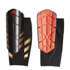 adidas Ghost Pro Shinguards - Black/Solar Red