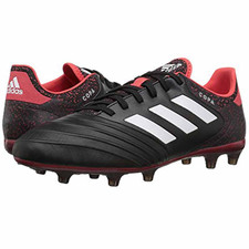 adidas Copa 18.2 Firm Ground Boot - BLACK/WHITE/REAL CORAL