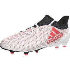 adidas X 17.1 Firm Ground Boots - WHITE/REAL CORAL/CORE BLACK