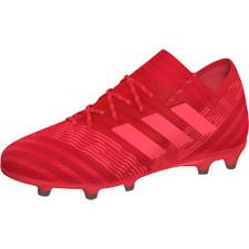 adidas Nemeziz 17.1 Firm Ground Boots Jr - REAL CORAL/RED ZEST/CORE BLACK