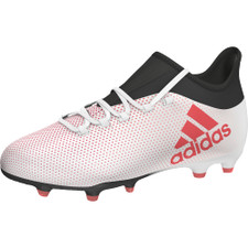 adidas X 17.1 Firm Ground Boots Jr - GREY/REAL CORAL/CORE BLACK