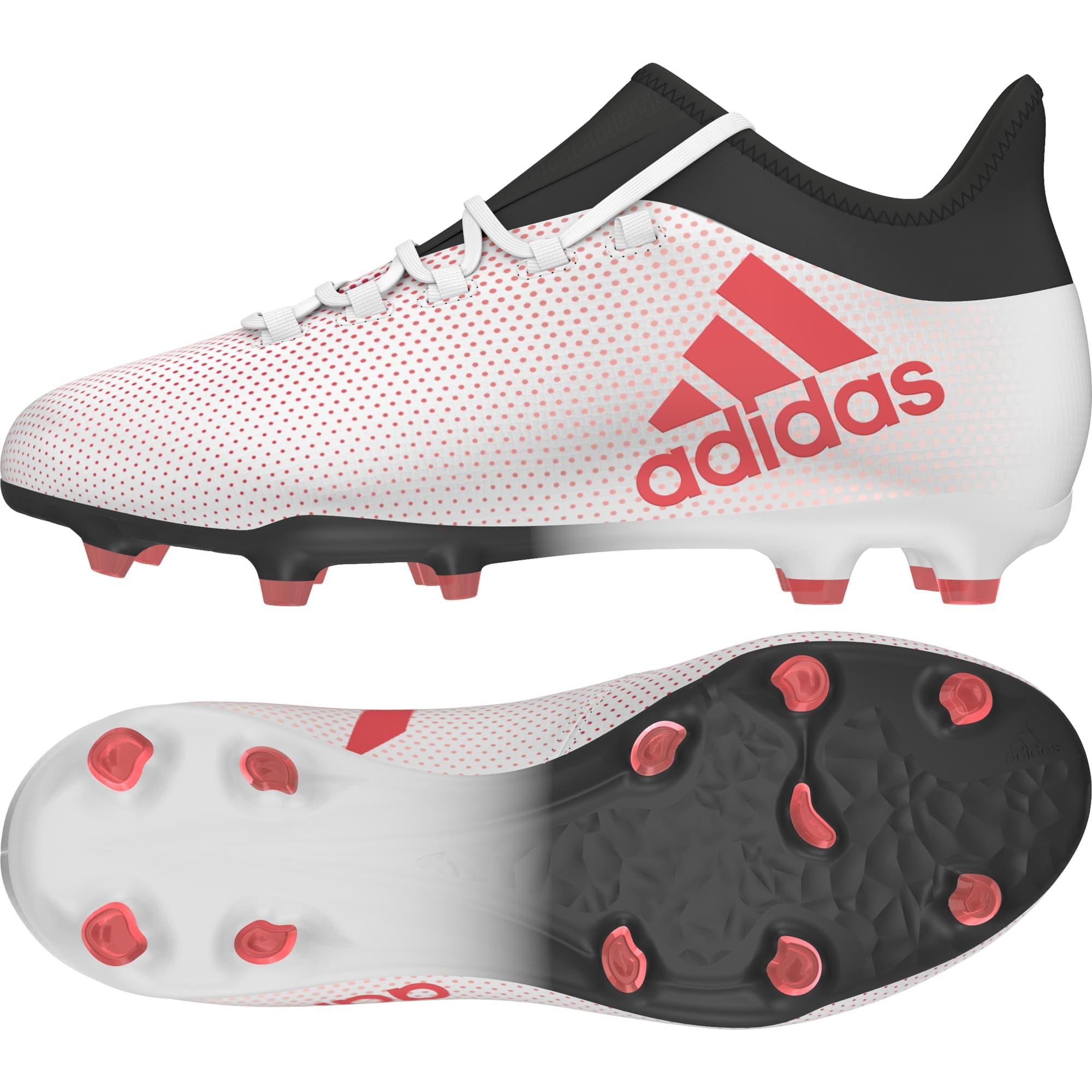 new product 9e67e 60d16 adidas x 17.1 fg core black solar  adidas x 17.1 firm ground boots jr grey  real coral core black