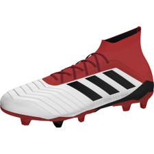 adidas Predator 18.1 Firm Ground Boot - WHITE/CORE BLACK/REAL CORAL