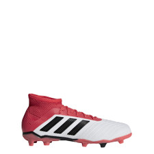 adidas Predator 18.1 Firm Ground Boots Jr - FTWR WHITE/CORE BLACK/REAL CORAL