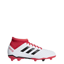 adidas Predator 18.3 Firm Ground Boots - WHITE/CORE BLACK/REAL CORAL