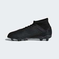 adidas Predator 18.3 Firm Ground Boots - CORE BLACK/CORE BLACK/REAL CORAL