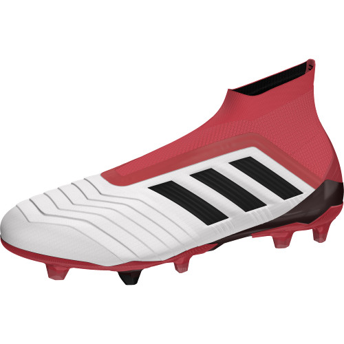 adidas Predator 18+ Firm Ground Boots - FTWR WHITE/CORE BLACK/REAL CORAL