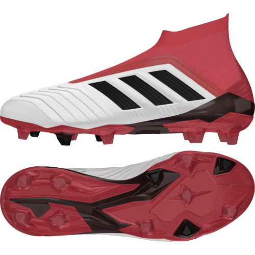 buy popular 4e6a1 e0fdd ... adidas Predator 18+ Firm Ground Boots - FTWR WHITECORE BLACKREAL  CORAL ...