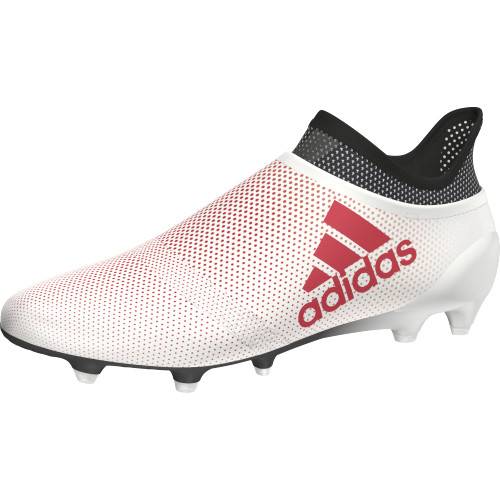 adidas X 17+ Purespeed Firm Ground Boots - GREY/REAL CORAL/CORE BLACK