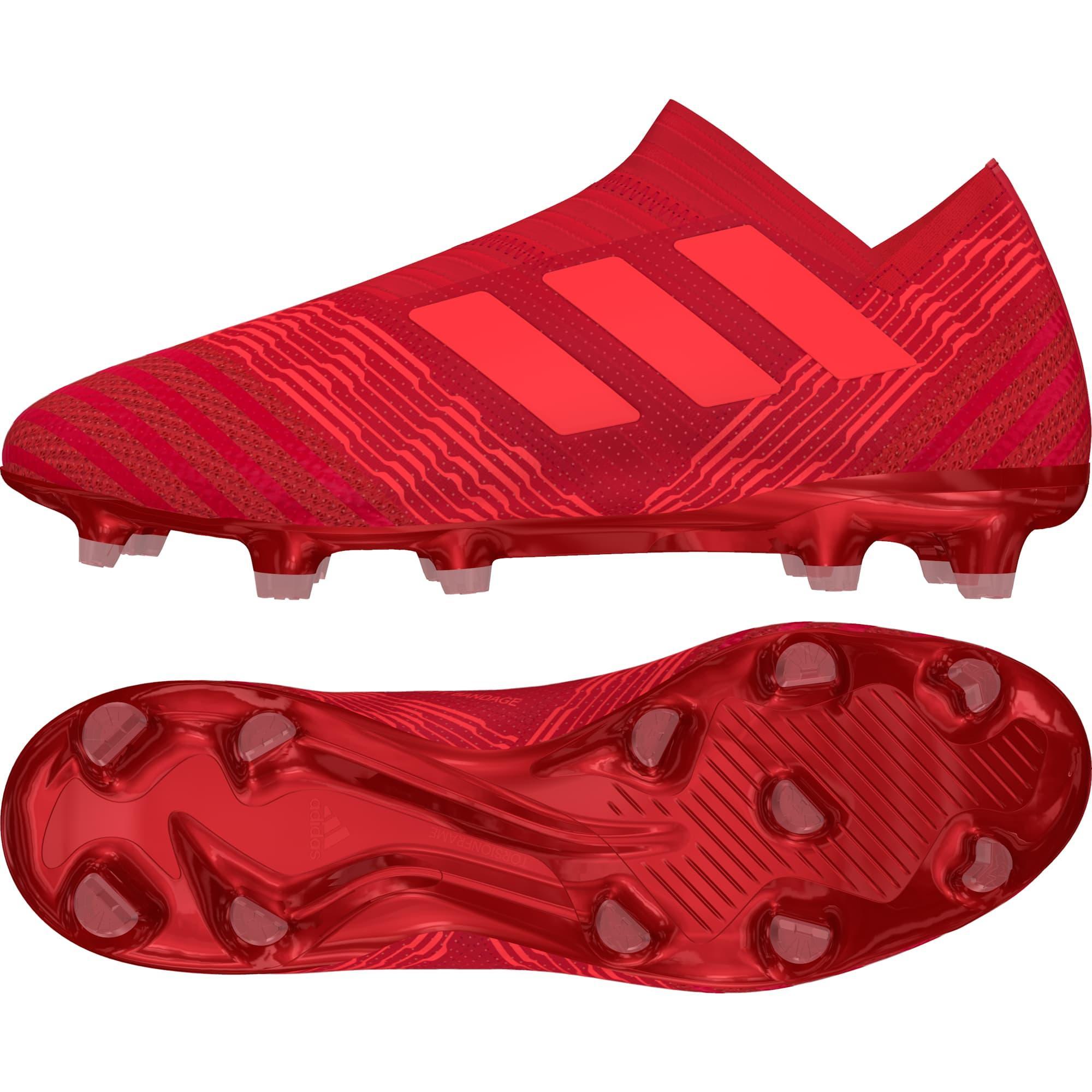 Adidas nemeziz 17 + 360 agilità terra ferma stivali reali coral / rosso