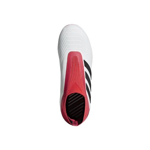 adidas Predator 18+ Firm Ground Boots Jr - FTWR WHITE/CORE BLACK/REAL CORAL
