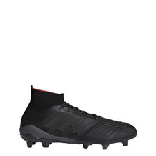 adidas Predator 18.1 Firm Ground Boot - CORE BLACK/CORE BLACK/REAL CORAL