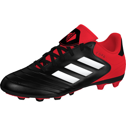 ... adidas Copa 18.4 Flexible Ground Boots - BLACKWHITEREAL CORAL ...
