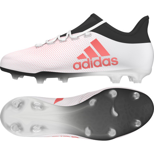 adidas X 17.2 Firm Ground Boots - GREY/REAL CORAL/CORE BLACK