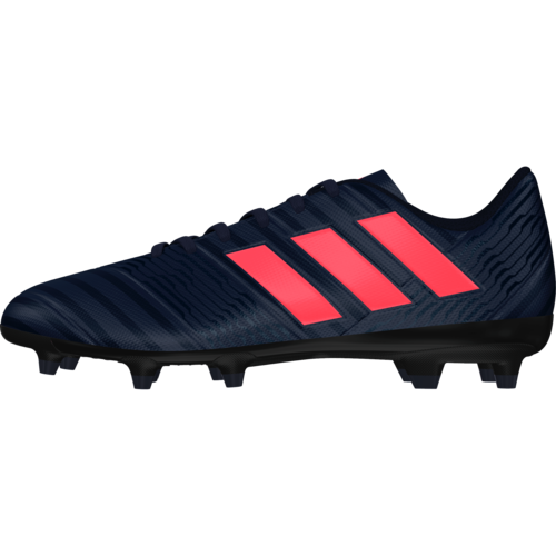 adidas Nemeziz 17.4 Firm Ground Boot - TRACE BLUE F17/RED ZEST S13/CORE BLACK