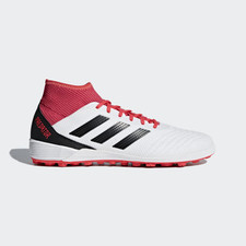 adidas Predator Tango 18.3 Turf Boot - WHITE/CORE BLACK/REAL CORAL