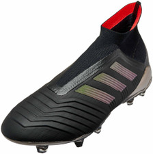 adidas Predator 18+ Firm Ground Boot - BLACK/REAL CORAL