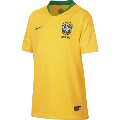 bfa5dca886b1 ... Nike Breathe Brazil CBF 18 19 Stadium Home Jersey Youth ...