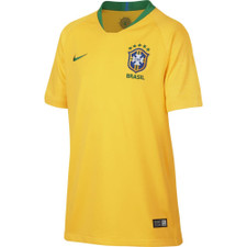 Nike Breathe Brazil CBF 18/19 Stadium Home Jersey Youth