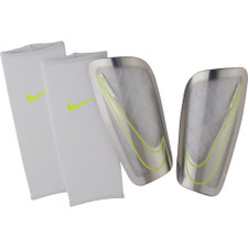 Nike Mercurial Lite Shin Guard - White/Volt
